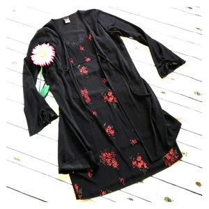 Floral Dress with long cardigan